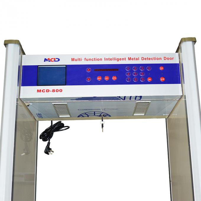 "6.0"" LCD Screen 8/10 zones Archway Metal Detector with fire-proof plate material"