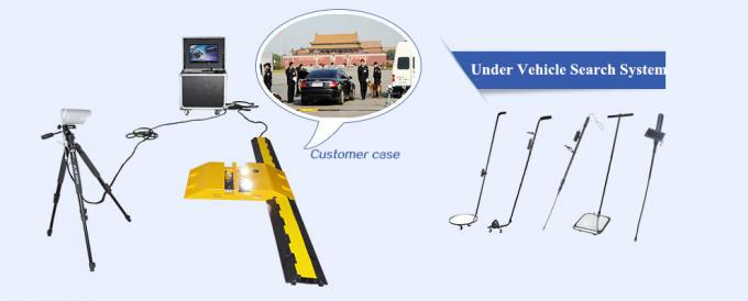 Light Weight Adjustable Length Handheld Vehicle Inspection Mirror with Flashlight