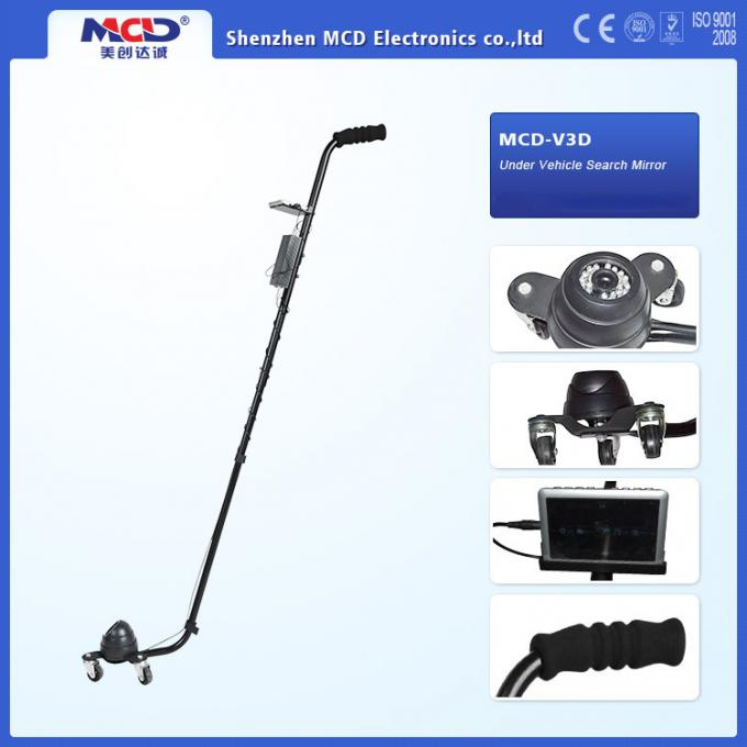 DVR Function Under Vehicle Inspection Camera Three Wheels For Security Checking