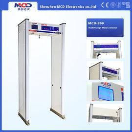 "China 6.0"" LCD Screen 8/10 zones Archway Metal Detector with fire-proof plate material supplier"