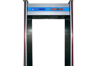 China 35 W , 6 zones  Walk through Metal Detector With 40 people/min pass rate supplier