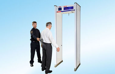 "China Waterproof Door Frame Metal Detector with 8 Zones 6.0"" Large Screen supplier"