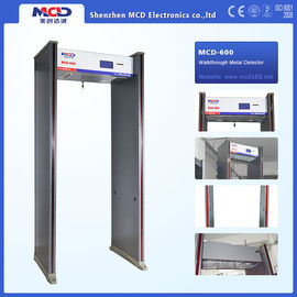 China High Sensitivity Walk Through Security Metal Detectors , Security Walk Through Gate 6 Zones supplier