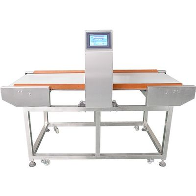 0-9 level Adjust Sensitivity Conveyor Belt Metal Detector Customized Size 7 inches LCD display