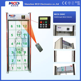 China 3 x 6 Cells 18 Zone Archway Metal Detector , Walk through metal detector LCD display factory
