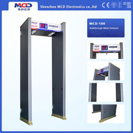 China 6 Zones Indoor Walkthrough Metal Detector with Digital And Analog Circuit Design distributor