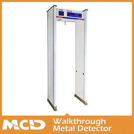 "China 8 Operational Frequencies 10 Zones Walkthrough Metal Detector Security Gate 6.0"" Led Screen distributor"