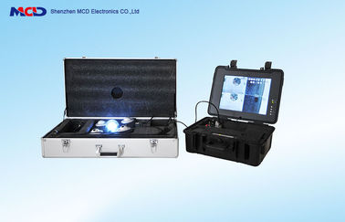 China 15 inch Under Vehicle Inspection Camera DVR Video Four pictures CCD SONY Camera factory