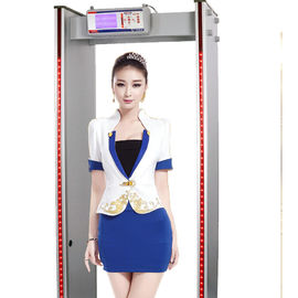 China 6 / 18 Zone Switchable Walk Through High Sensitive Metal Detector MCD600 factory