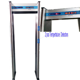 Stainless Steel Walk Through Metal Detector , Body Temperature Scanner MCD-200R