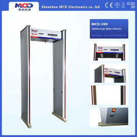 China 8 status led display Indoor Archway Metal Detector with 6 detection zones factory