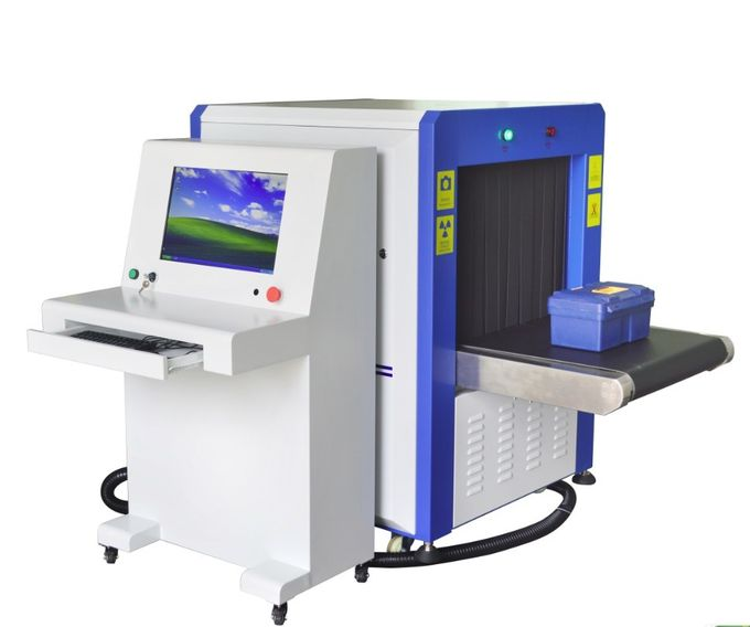0.22 M / S Airport Baggage Scanner Metal Detector Machine With 650 X 500mm Tunnel Size 1